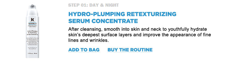 Hydro-plumping retexturizing serum concentrate